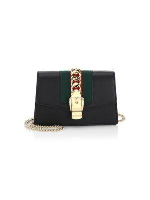 Super Mini Sylvie Shoulder Bag in Black