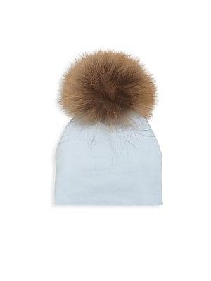 Moncler - Kid s Fox Fur Knit Pom-Pom Hat - saks.com 7fdb9eec2d7e