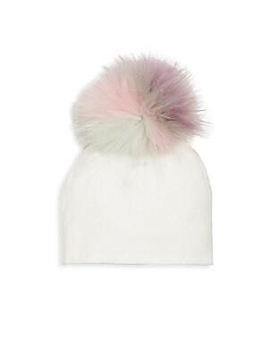 83217b340d6 Bari Lynn - Unicorn Fox Fur Pom-Pom Hat - saks.com