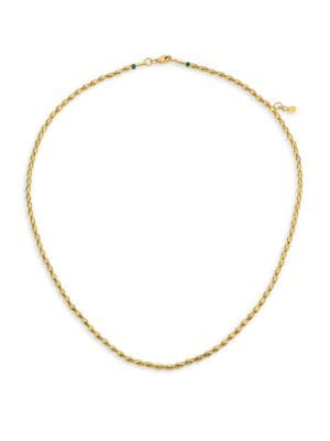 GURHAN Delicate 22K & 24K Yellow Gold Wheat Bead Necklace