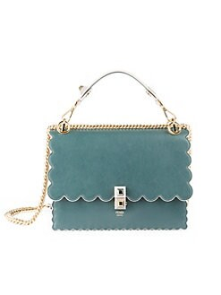 965025c812 QUICK VIEW. Fendi. Scalloped-Edge Leather Crossbody Bag