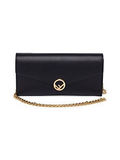 173b41d9b3 Wallet on Chain Leather Cross Body Bag NERO. QUICK VIEW. Product image.  QUICK VIEW. Fendi
