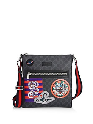3b3e6095288 Gucci - GG Supreme Multicolor Patch Canvas Messenger Bag - saks.com