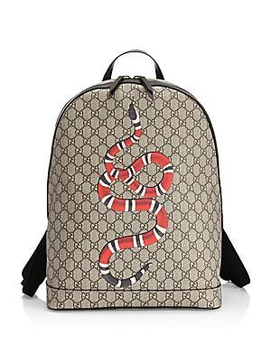 b40115e68ea775 Gucci - Kingsnake Print GG Supreme Canvas Backpack - saks.com