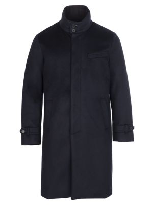 Norwegian Wool Long Cashmere Down Topcoat