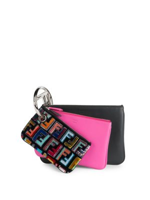 Triplette Embroidered Wallet by Fendi