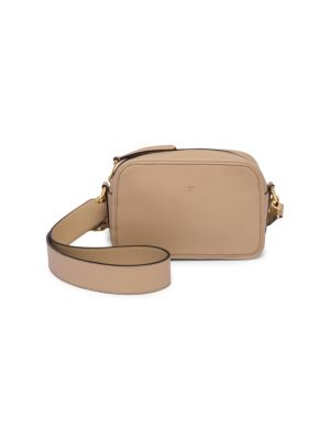 Camera Case Leather Shoulder Bag, Beige