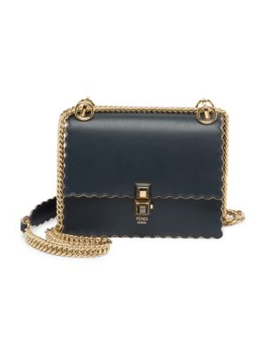 Mini Kan Scalloped Leather Bag by Fendi