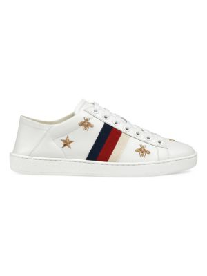 New Ace Sneakers With Bees And Stars by Gucci
