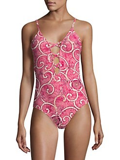 2a51c4b4b8a15 Printed One-Piece Swimsuit PINK LIMA. QUICK VIEW. Product image