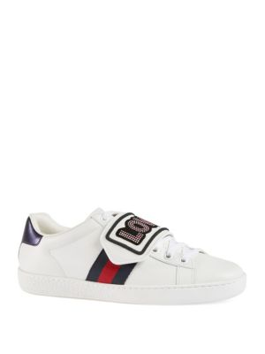 Ace Sneaker With Removable Patches in Blue