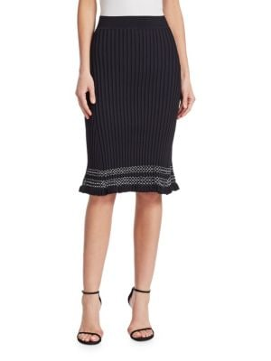 Gwendolyn Contrast Trim Knit Skirt by Altuzarra