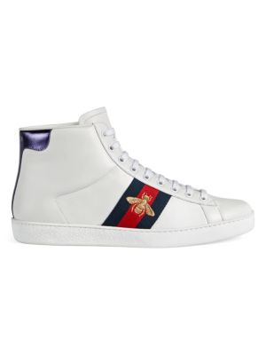New Ace High Top Sneakers by Gucci