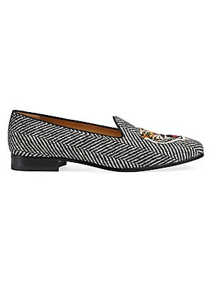 79c51d6f58a Leather Loafer With Kingsnake.  830.00 · Gucci - Herringbone Slipper With  Tiger Appliqué