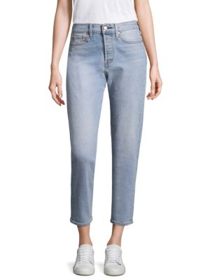 Wedgie High-Rise Icon Cropped Boy Fit Jeans, Bauhaus Blue