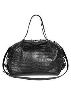 9a4a1712f46 Saint Laurent. Crocodile Embossed Leather Duffel Bag