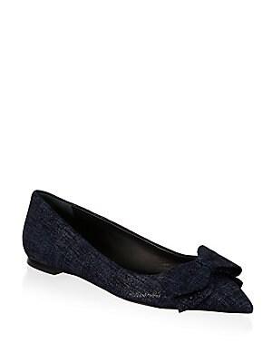2e945f0f9cc55c Tory Burch - Rosalind Leather Ballet Flats - saks.com