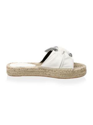 Giana Leather Espadrille, Optic White