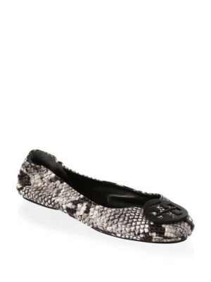 Tory Burch Minni Roccia Leather Ballet Flats