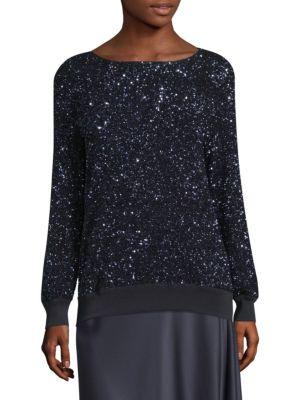 Lafayette 148  Nessa Sequin Sweater