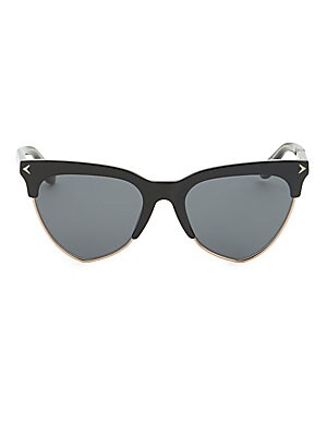 Image of Elevate your style with this cat eye shaped sunglasses 54mm lens width; 18mm bridge width; 145mm temple length 100% UV protection Acetate/metal Imported. Soft Accessorie - Sunglasses > Saks Fifth Avenue. Givenchy. Color: Black.