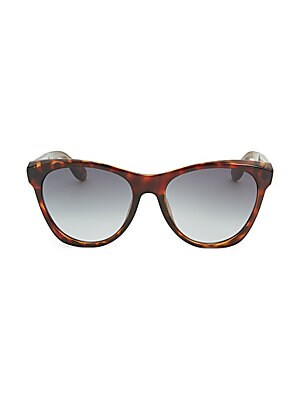 Image of Protect your eyes in style with these sunglasses 55mm lens width; 18mm bridge width; 145mm temple length Gradient lenses Saddle nose bridge Plastic Made in Italy. Soft Accessorie - Sunglasses > Saks Fifth Avenue. Givenchy. Color: Dark Havana.