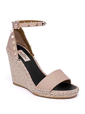 5d07827057e Valentino Garavani - Rockstud Espadrille Wedge Sandals
