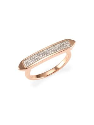 Baja Skinny Diamond Stacking Ring, Rose Gold