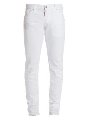 Slim-Fit Denim Jeans in White