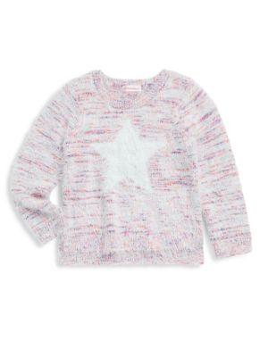 Toddlers Little Girls  Girls Brushed Star Sweater