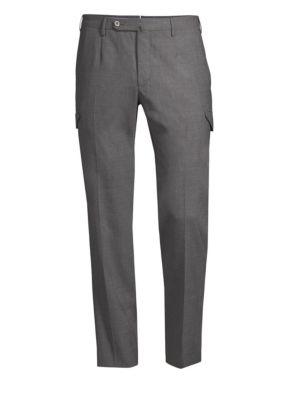 GTA 1955 Easy-Fit Travel Cargo Wool Pants in Grey