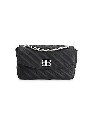 Balenciaga Bb Logo Leather Crossbody Bag