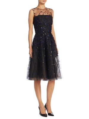 AHLUWALIA Charlemagne Sequin Dress in Midnight