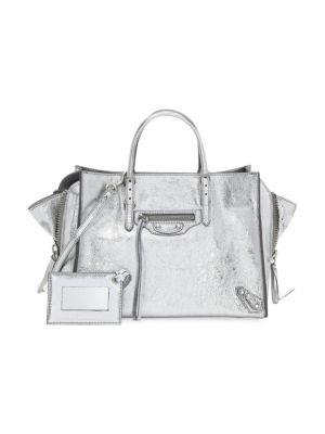 Classic Metallic Edge City Medium Leather Shoulder Bag