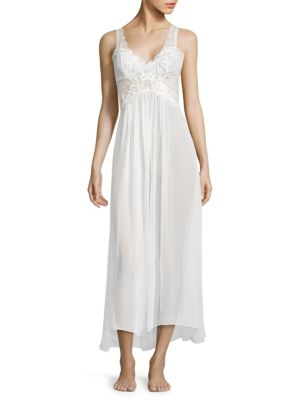 JONQUIL Anastasia Chiffon Nightgown in Ivory