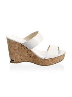 27f7cf241d2 Jimmy Choo Parker Leather Wedge Sandals