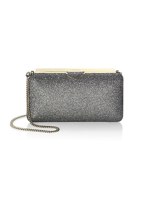 Ellipse Glitter Clutch