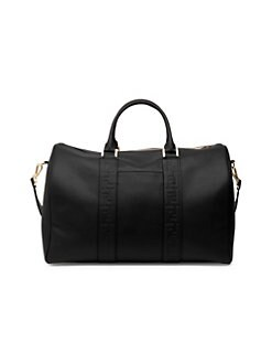 Fendi. Logo Embossed Leather Duffel 8745b69dc8640