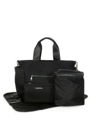 SAKS FIFTH AVENUE LAYETTE Nylon Diaper Bag in Black