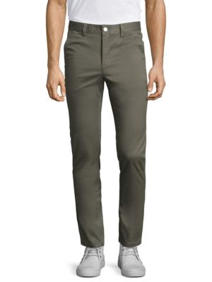 WESC Alessandro Slim Straight Chinos in Ash Grey