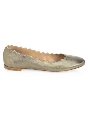 outlet store good looking best price Chloé - Lauren Metallic Leather Ballet Flats - saks.com