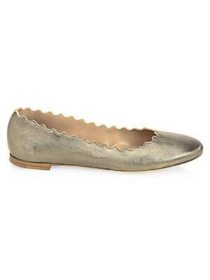 0dfbbad0ad54 Chloé - Lauren Leather Ballet Flats - saks.com