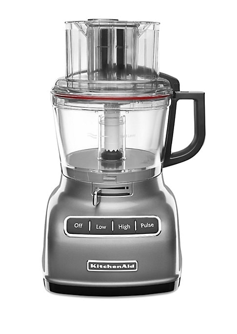 Image of 9-Cup Food Processor with ExactSlicea? System slices from thick to thin with one slide of the lever. This model has a 9-cup work bowl with 2-in-1 Feed Tube and pusher for continuous processing. The 9-cup capacity is ideal for many home cooking needs, allo