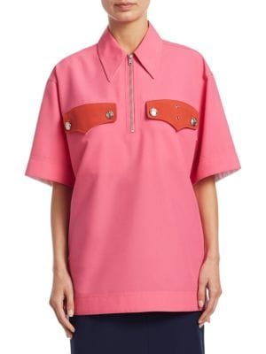 Policeman Collared Piqué Shirt - Begonia Size 40 It in Pink from Antonioli