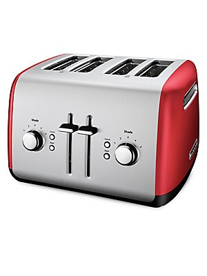 Image of 5-Shade Settings Under Base Cord Storage Stainless steel Spot clean Imported SPECIFICATIONS Model number: KMT4115OB WARNING: Cancer and Reproductive Harm - www. P65Warnings. ca.gov. Gifts - Kitchen > Saks Fifth Avenue. KitchenAid. Color: Empire Red.