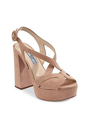 2493f91ea075 Prada - Suede Platform Sandals - saks.com