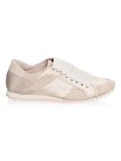 ec8c84132f0b Pedro Garcia Cristina Satin Trainer Sneakers from Saks Fifth Avenue ...