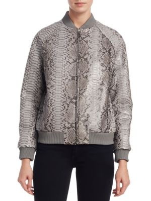 Python Bomber Jacket, Grey