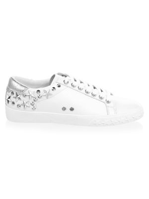 Dazed Star & Stud Leather Sneakers by Ash