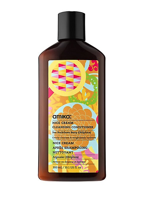 Image of Gently Cleanse, Weightlessly Hydrate Amika Nice Cream is a one-step cleansing conditioner that gently cleanses & weightlessly hydrates, no matter what kind of hair you've got - ideal for dry, coarse, curly or color-treated hair. FOR: curls, kinks, coils a